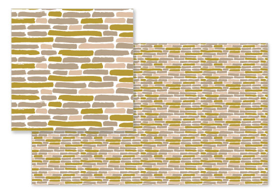 fabric - Pastel Brick by Erin Wallace