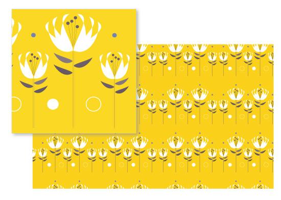 fabric - Graphic Garden by Laura Malkasian Huggins