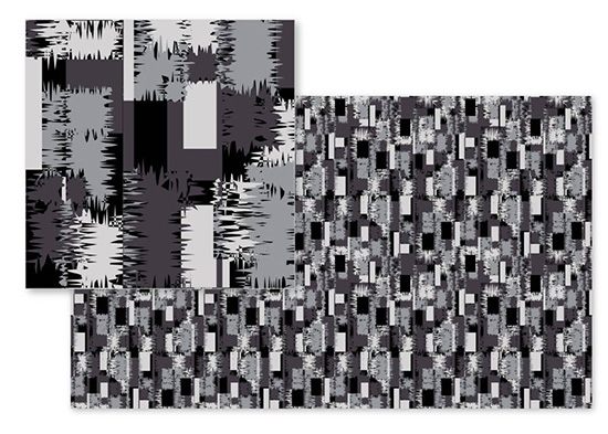 fabric - Grey Abstract pattern by Abhilasha Agrawal