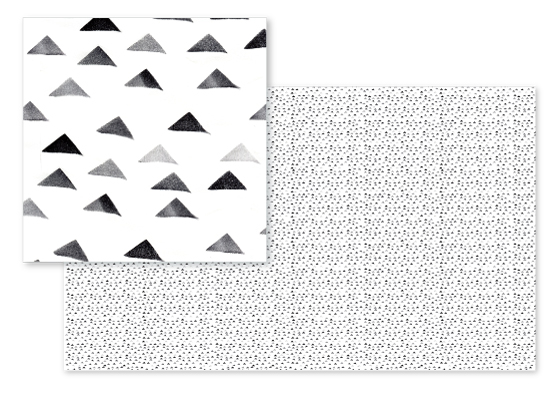 fabric - Soft Stamped triangles by Susie Allen
