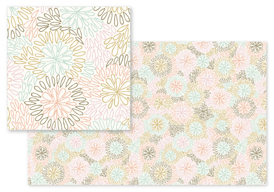 fabric - Abstract Floral by Hooray Creative