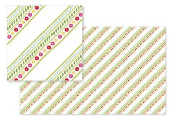 Diagonal Bouquet Stripes