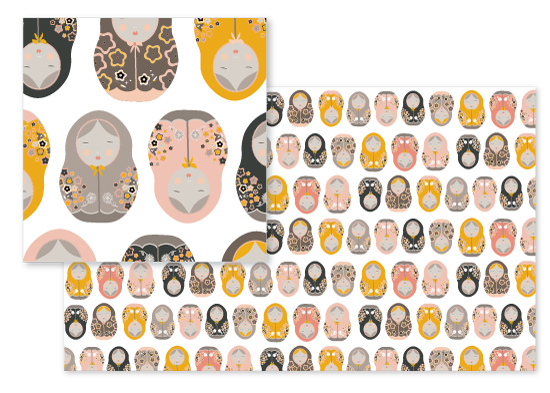 fabric - Babushka Collection 2 by Kate Capone
