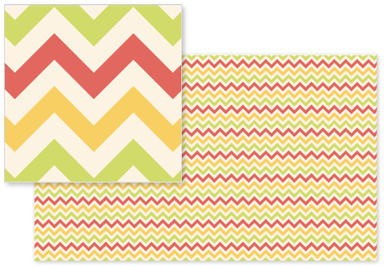 fabric - Playful Zig Zag by Sharon Almeida