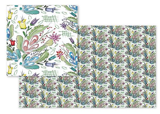 fabric - Woodland Flora by Kashmira Baheti