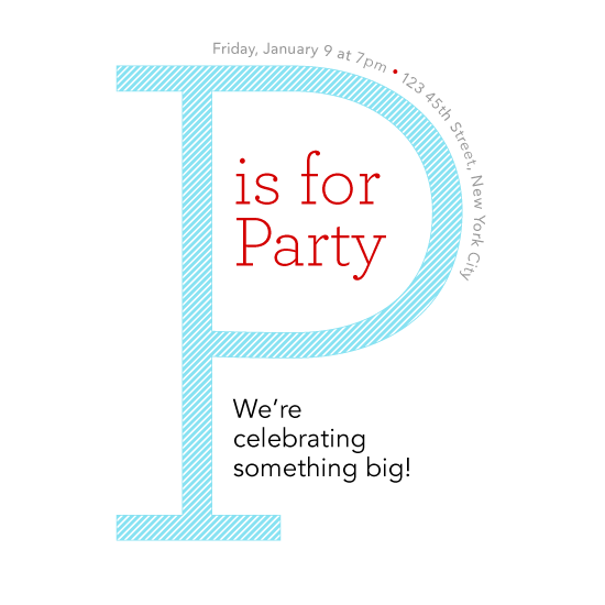 cards - P is for Party by PaperLovePixels