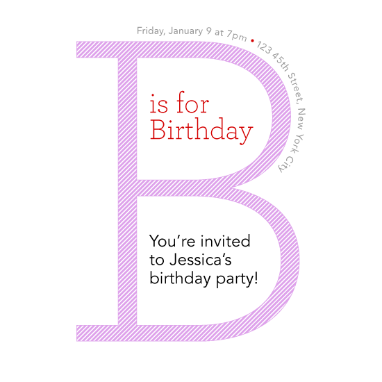 cards - B is for Birthday by PaperLovePixels