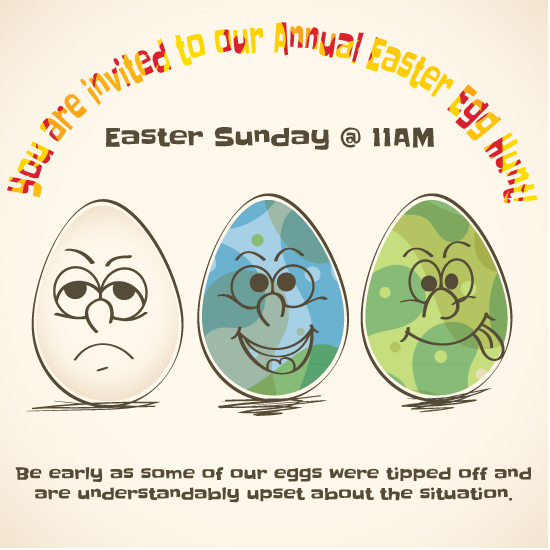 cards - The Word Got Out Easter Egg Hunt Invitation by Jason Shurb