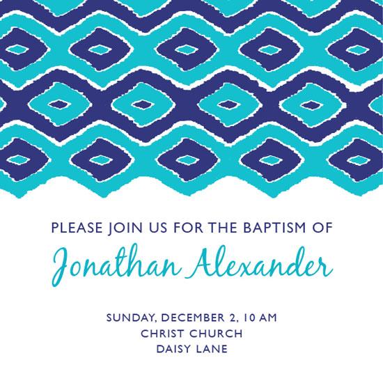cards - Baptism Patterned Invite by Lauren Sumner