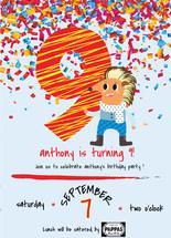9th Birthday Party Invi... by Jason Shurb