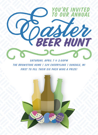 cards - Annual Easter Beer Hunt by Sarah Elizabeth