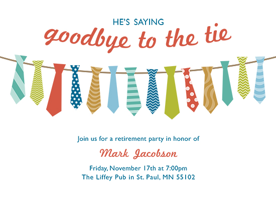 cards - Goodbye to the Tie Retirement Party by Chelsey Scott