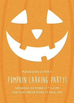 Jack O'Lantern Pumpkin Carving Party