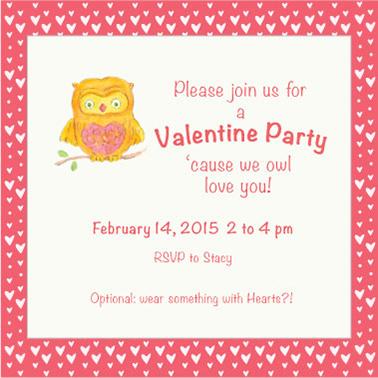 cards - Owl Love Valentine Invite by Tina Cash
