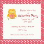 Owl Love Valentine Invi... by Tina Cash