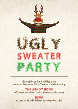 Ugly Sweater Party Digital Invitation