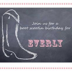 Boot Scootin Birthday