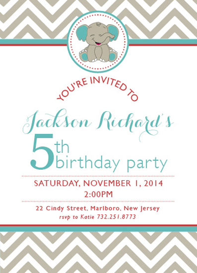 cards - Jackson's 5th Birthday by Paper Rose Invitations