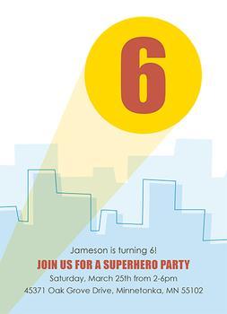 Superhero Theme Birthday Party