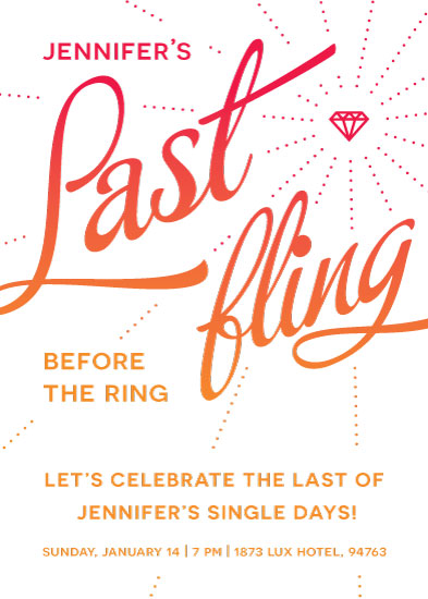 cards - Last Fling Before the Ring! by Madalyn Basse