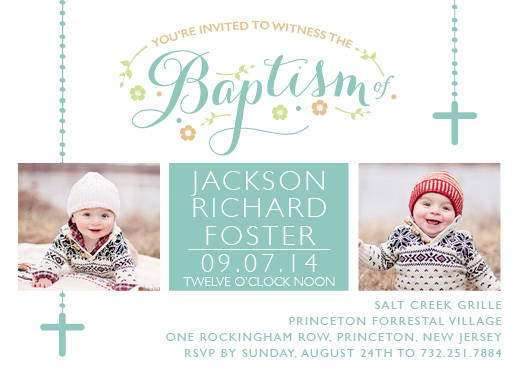 cards - Lovely Baptism by Paper Rose Invitations