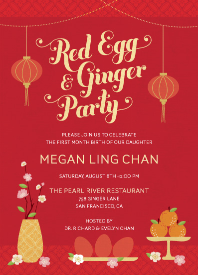 cards - Red Egg & Ginger Party by Coco and Ellie Design