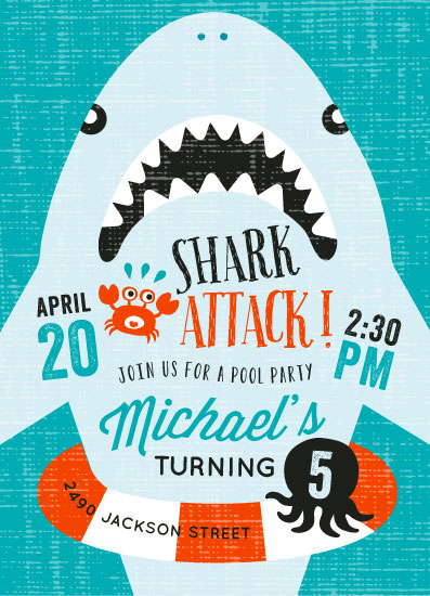 cards - Shark Attack Pool Party by iamtanya