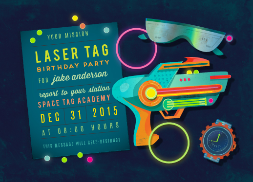 cards - Laser Tag by Lori Wemple