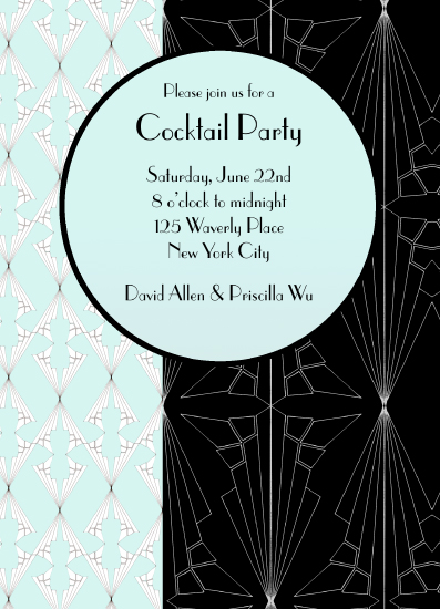 cards - Art Deco Cocktail Party by Chelsea Cates