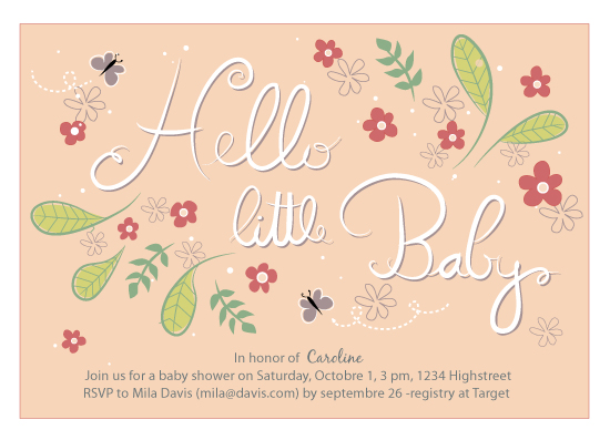 cards - hello little girl by jody-claire