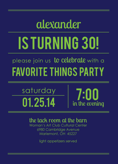 cards - Big Bold Birthday Invite by Lisa Langenhop