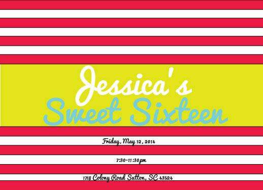 cards - Happy Pink Sixteen! by Jessica Tarter