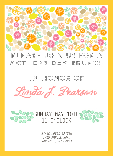 cards - Citrus-y Mother's Day Brunch by Pooja Dharia