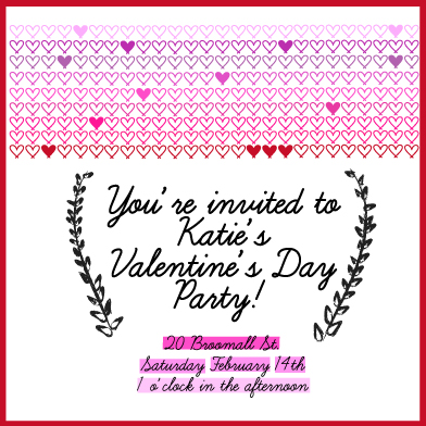 cards - Ombre Valentine's Day Invitation by Pooja Dharia