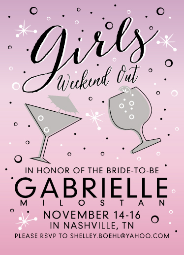 cards - Girls Weekend Bachelorette Party by Shelley Ruffing