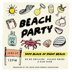 bright beach party