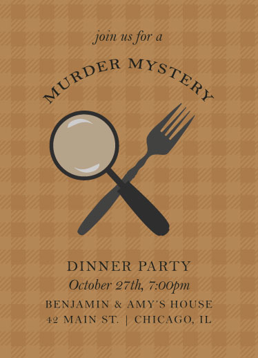 cards - Mystery Dinner Party by Monica Francis
