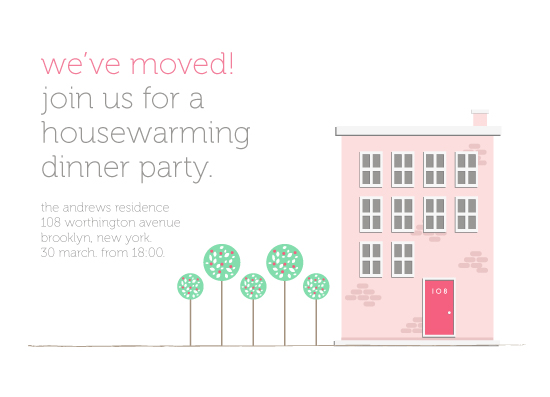 cards - Apartment Building Housewarming by curiouszhi design