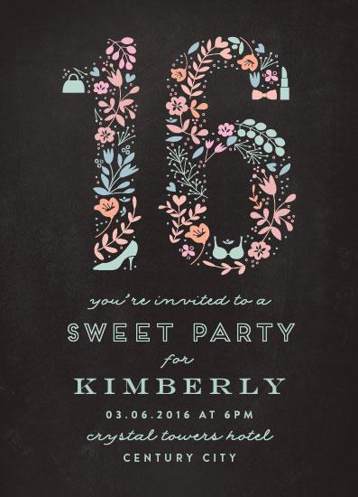 cards - Sweetest Sixteen by Phrosne Ras