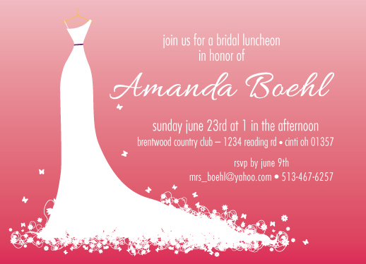 cards - Dress Silhouette Bridal Luncheon by Shelley Ruffing