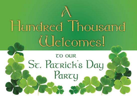 cards - St. Patrick's Day Welcome by Cecilia Torres