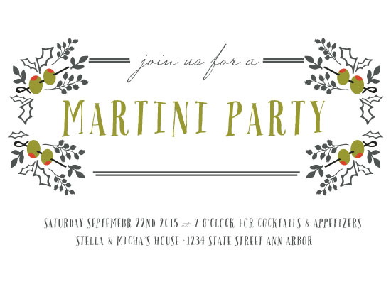 cards - Martini Bar by Grace Kreinbrink