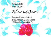 Red Rose Rehearsal Dinn... by Anneline Sophia