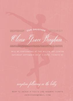 Elegant Girls Pink Dance Recital