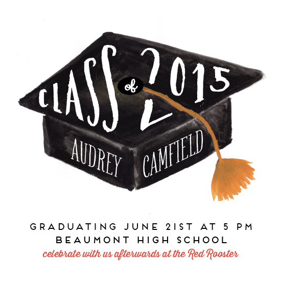 cards - hats off graduation by Frooted Design