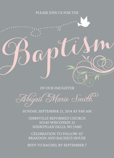 cards - Whimsical Baptism and Christening Digital Invitation by Liza Mulloy