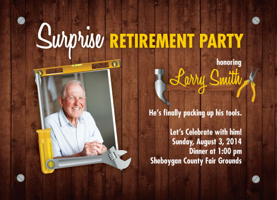 cards - Retirement Party Digital Invitation by Liza Mulloy