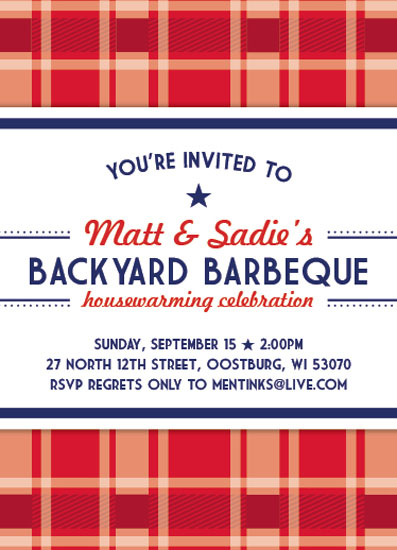 cards - Backyard Barbeque Digital Invitation by Liza Mulloy
