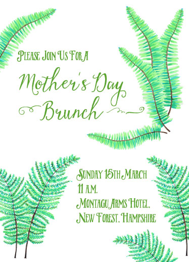 cards - Fern Mother's Day Brunch by Anneline Sophia