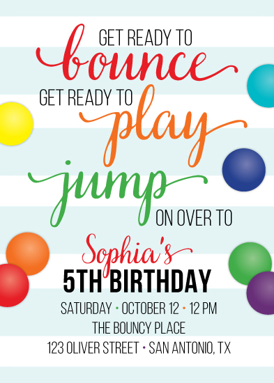 cards - Bounce House Fun by Little Bees Graphics